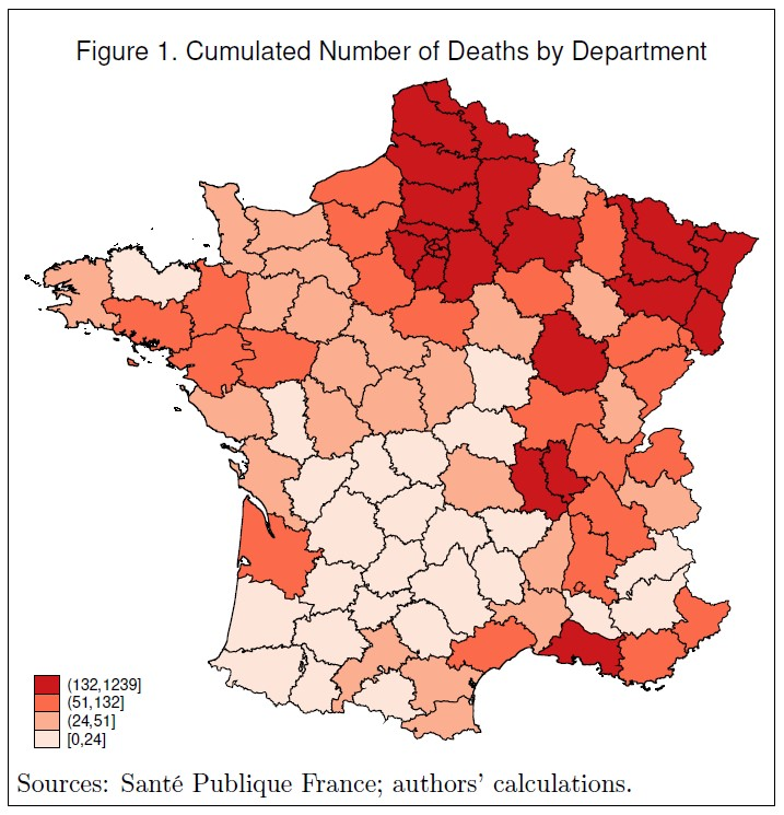 Cumulated Number of Deaths by Department